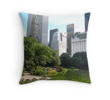 Summer in Central Park Throw Pillow