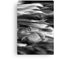 Textures In The River Canvas Print