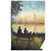 Toronto's Centre Island: Modern Impressionist semi-abstraction painting Poster