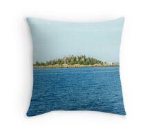 Island on Lake Superior Throw Pillow