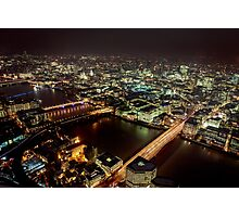 London at Night #1 Photographic Print