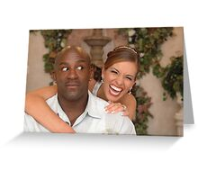 The Groom and His Fiesty Bride II Greeting Card