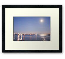Lisbon moonlight Framed Print