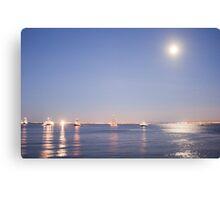 Lisbon moonlight Canvas Print