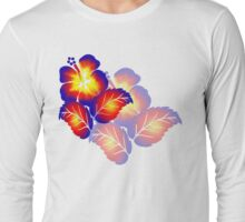 Fire Flower shadowed Long Sleeve T-Shirt