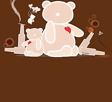 My wild night with Teddy Bear by carmanpetite