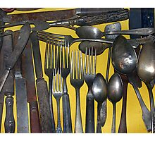 A Drawer of Old Utensils. Photographic Print