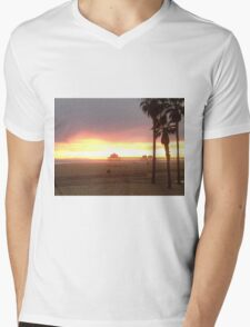 Pier at Sunset, Huntington Beach, California Mens V-Neck T-Shirt