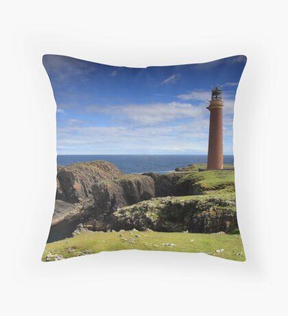 Butt of Lewis lighthouse Throw Pillow