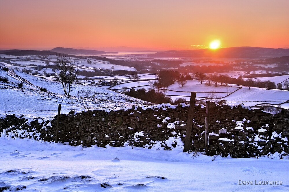 Winter Sunset on The Helm, Kendal - Cumbria by Dave Lawrance