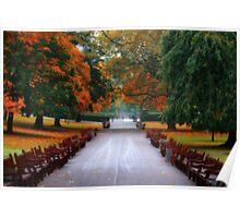 Autumn in Princes Street Gardens II Poster