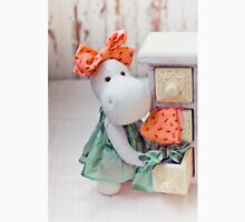 White hippo toy with textile and sewing accessory Unisex T-Shirt