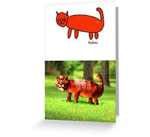 Amber's Cat (Monster Engine Style) Greeting Card