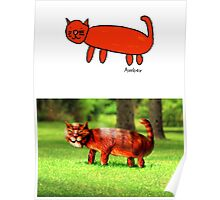 Amber's Cat (Monster Engine Style) Poster