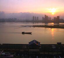 Sunset in Nanchang, Jiangxi by Laurie Puglia