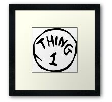 Thing 1 and thing 2 Couple Framed Print