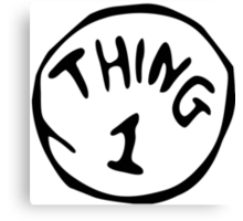 Thing 1 and thing 2 Couple Canvas Print