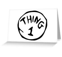Thing 1 and thing 2 Couple Greeting Card