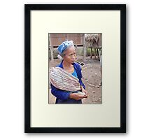 Time out in Northern Laos Framed Print