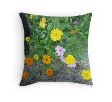 Tha Last of my Flowers Throw Pillow