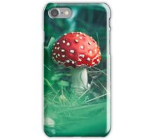 red stipe mushroom on the forest iPhone Case/Skin