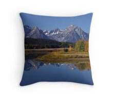 Snake River Ox Bow Throw Pillow