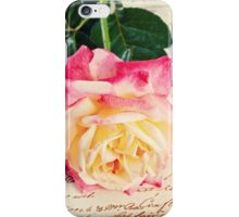 single  rose on on fabric background iPhone Case/Skin