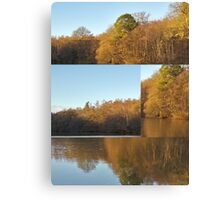 Autumn Reflections Mash Up  Canvas Print