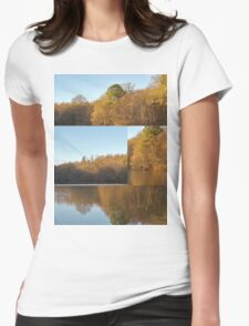 Autumn Reflections Mash Up  Womens Fitted T-Shirt
