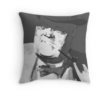 Mafia boss with tobacco pipe Throw Pillow