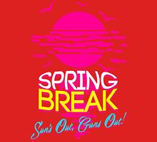 Spring Break, Sun's Out Guns Out Mens V-Neck T-Shirt