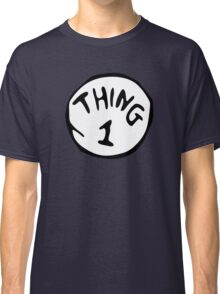 Thing 1 and thing 2 Couple Classic T-Shirt