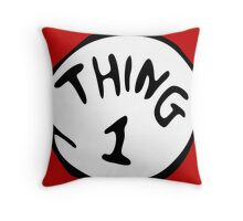 Thing 1 and thing 2 Couple Throw Pillow