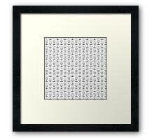 The Golden Trio Pattern Framed Print