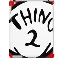 Thing one, thing two. Funny for couples iPad Case/Skin