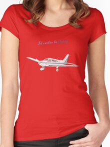 I'd rather be flying Women's Fitted Scoop T-Shirt