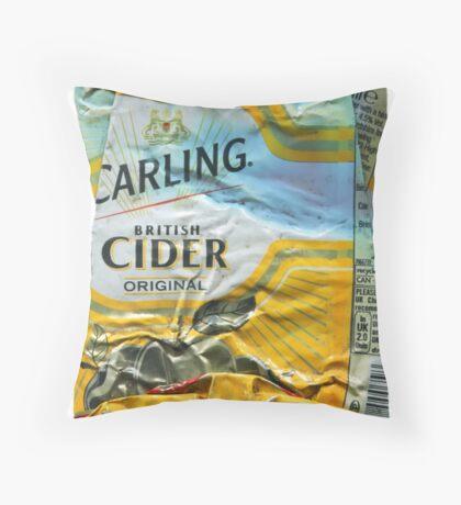 Carling Cider - Crushed Tin Throw Pillow