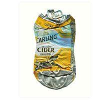 Carling Cider - Crushed Tin Art Print