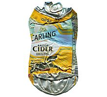 Carling Cider - Crushed Tin Photographic Print
