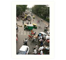 Delhi intersection! Art Print