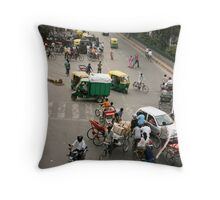 Delhi intersection! Throw Pillow