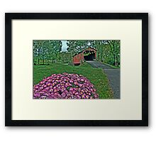 Covered Bridge in HDR Framed Print