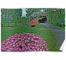 Covered Bridge in HDR Poster