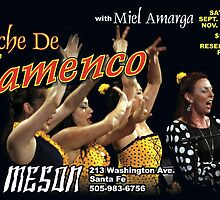 Flamenco Postcard #1 for Miel Amarga  by Craig Schroeder