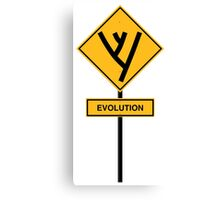 Evolution road sign Canvas Print