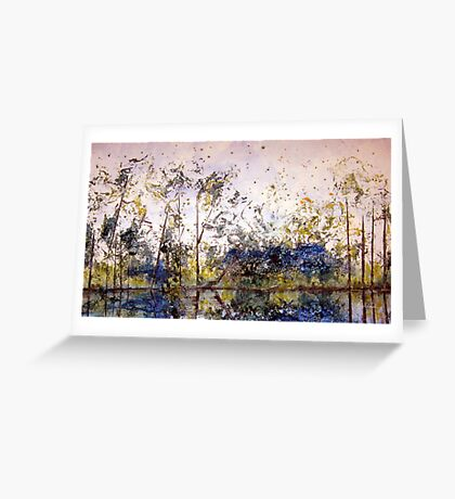 Along The River Bank Greeting Card