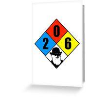 Charles Darwin birthday hazard sticker Greeting Card