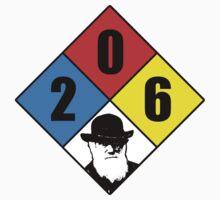 Charles Darwin birthday hazard sticker by colinpurrington