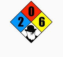 Charles Darwin birthday hazard sticker Unisex T-Shirt