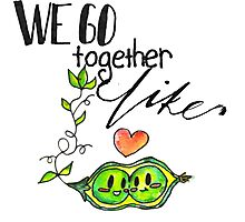 We Go Together like Peas in a Pod Photographic Print